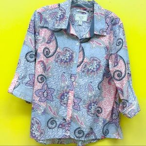 Charter Club Relaxed Fit Shirt Shop Paisley Print
